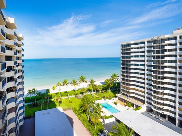 A rare find on the beach in Naples, FL this 3 bedroom condo with 2.5 baths has beautiful views of th