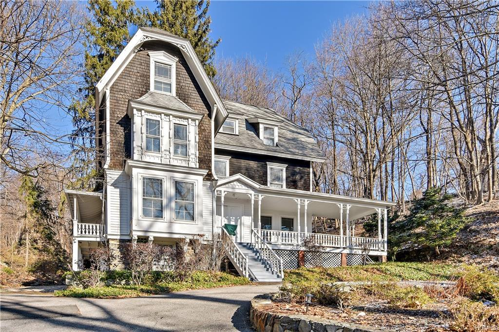 """Grand Victorian Lady set on shy 5 acres with winter Hudson River Views!  This home features 9'6"""" cei"""