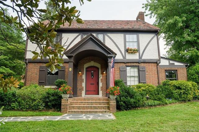 Don't miss the chance to own this Tudor Revival in sought-after Hermitage Road Historic District.  A 2900SF, brick & stucco standout, sits on more than ½-acre, rich in architectural details, including decorative half-timbering & a striking entryway with curved portico & beautifully detailed Tudor door. Step through the arched doorway & you'll find an entrance hall & formal living room with fireplace as well as formal dining room & renovated kitchen on the first floor. The kitchen has white raised-panel cabinets, stainless sink & stainless appliance collection, including a Fisher & Paykel two-drawer dishwasher. A breakfast area, family room & office/study complete the first floor. Upstairs: four bedrooms, including a master with potential en-suite bath. Hall bath. New two-zone CA system. Lower level has a flex space, renovated bathroom & waterproofed utility area. Professionally installed surround sound. Multicolored tile roof. K-Guard gutters. Whole-house generator. 20-foot x 48-foot garage/studio/workshop. Great outdoor living spaces, with shops on Macarthur & Bellevue just a walk away. Plus, Whole Foods is on its way. Just move in & tend your English garden.