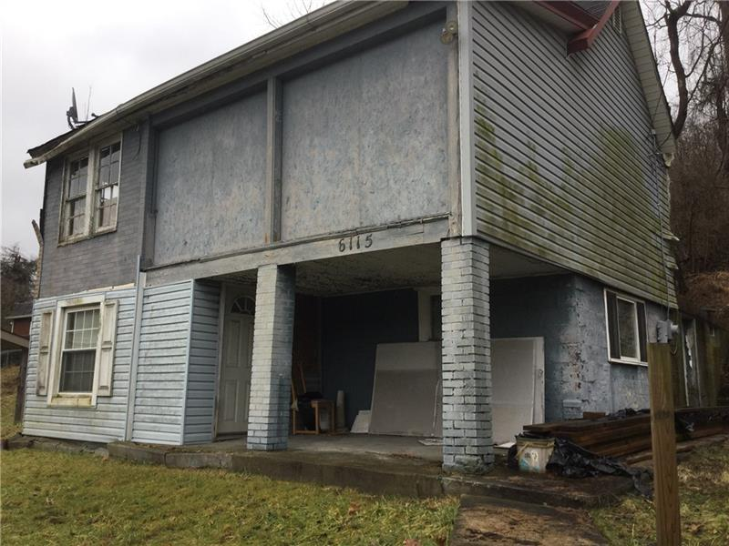 Property is AS-IS WHERE IS. Handyman special. House needs total renovation .Has new electric service.Nice area for an investment or starter home.Located in Prestigious South Park Township.