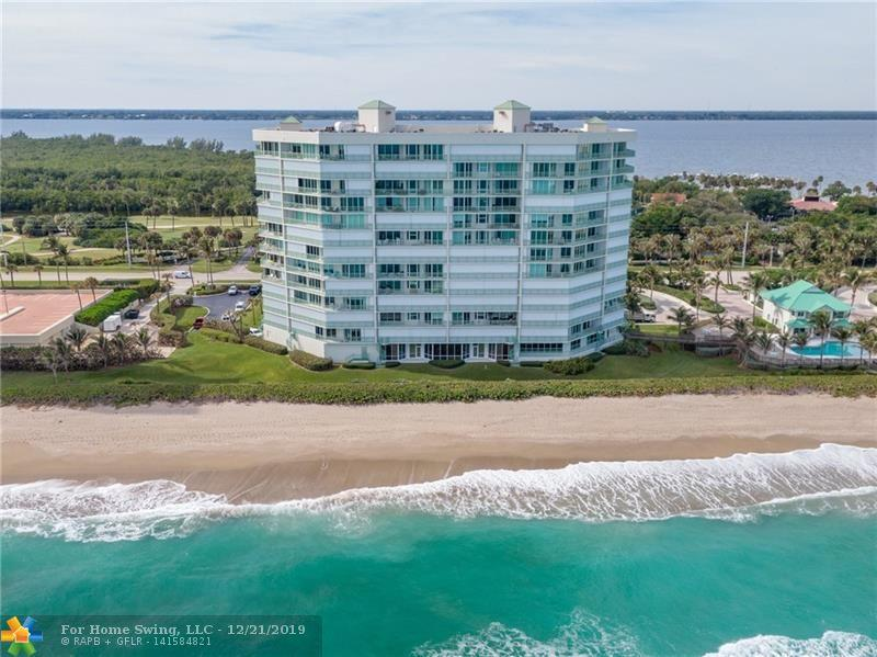 Breathtaking ocean views from this beachfront condo on Hutchinson Island. Enjoy spectacular sunrises and ocean breezes in this spacious 3BD/2BA unit on the 4th Floor with views from every room. Gorgeous kitchen with granite counters, high-end appliances and lots of storage. Sliding doors from living room and bedrooms all lead out to an open balcony that runs the entire length of the unit. Regency Island Dunes is country club living on the ocean. Amenities include beach access, golf, tennis, pickleball, fitness center, heated pool and more. Boat docks avail