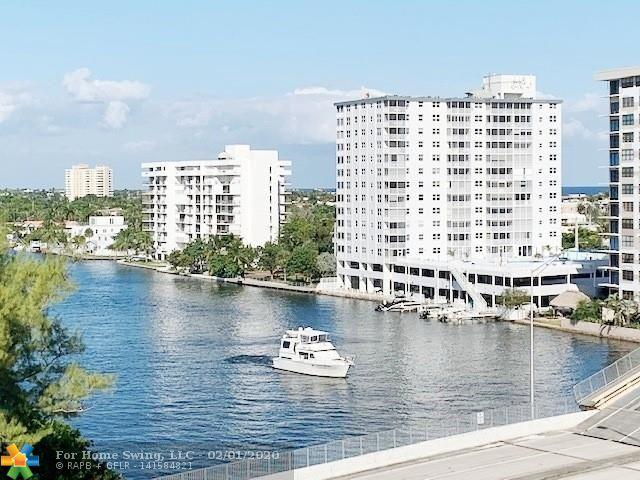 Panoramic Intracoastal, ocean & city views. This is a 1450sf Bright & light 2/2 split bedroom unit, NEW Impact windows & sliders, NEW AC, no popcorn, freshly painted, full size W & D in unit, custom cabinets in 3 walk-in closets, extra storage on same floor as unit. Great news! This building has fire sprinkler system already so no assessment. One of the most sought after building on the West side of the Intracoastal so no waiting on the bridge. Resort style heated pool directly by the water, BBQ, 24/7 security, garage parking, updated gym, 2 pets up to 25 lbs each welcome!  Building is centrally located in the heart of Pompano Beach just 2 short blocks to the beach, close to many restaurants, shopping, Whole Foods, HomeGoods, boat ramp is n