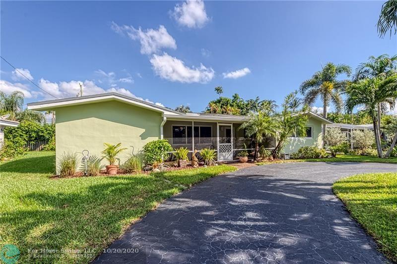 Wonderful East Wilton Manors neighborhood (and neighbors!) -- make this 3 bedroom, 2 bath, pool home yours!  House protected by all impact windows & doors.  New A/C system in 2019 with NEST thermostat.  Kitchen has granite counters.  Lots of nice features here:  circular driveway with ample parking, front porch, indoor laundry room, large storage room (former garage space), lots of closets, new gutters, useful shed.  Generous screened porch overlooks the pool & yard.....very relaxing setting.  House tented end of September 2020, covered under a termite warranty which is transferable to the new owner.  A short 8 minute drive (2.6 miles) to Fort Lauderdale Beach.  Just a few blocks to the new Starbucks, close to Stork's Bakery, and approximat