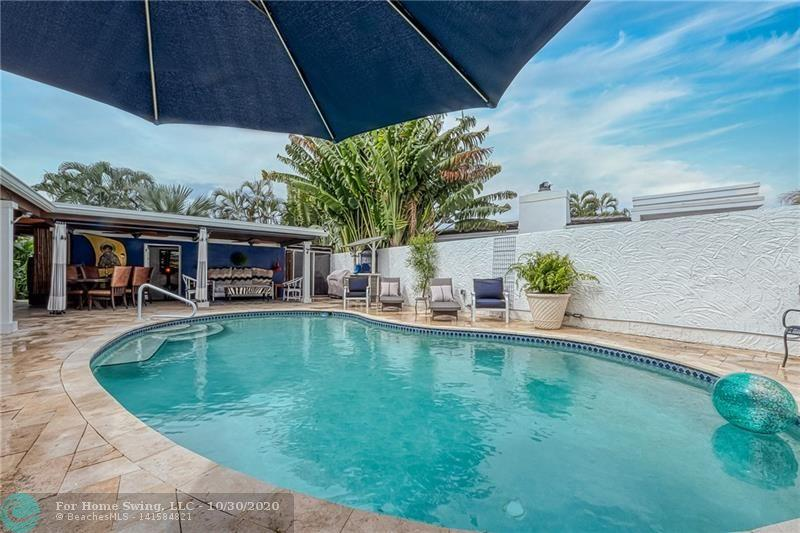 Step into your private pool entertaining area with lots of room and covered porches.
