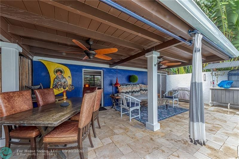 Plenty of  covered spaces for hanging out after the sun and enjoying cocktails and dinner.