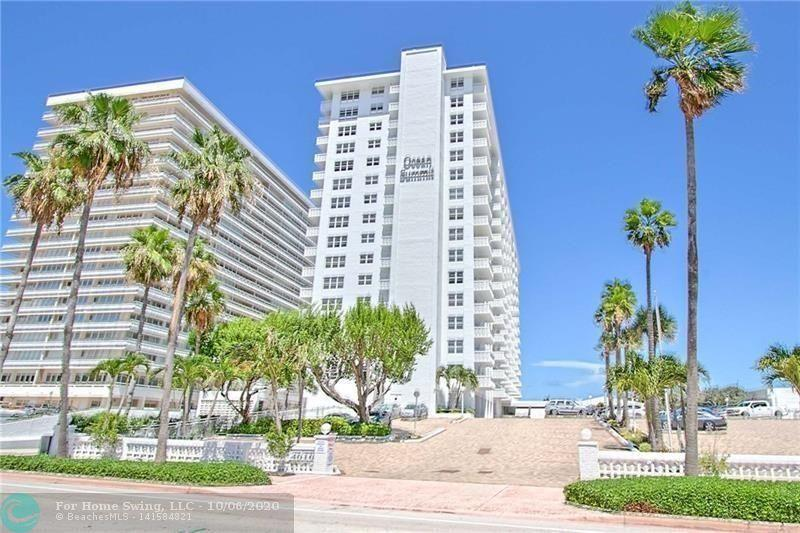 Furnished 2 /2 BEDROOM South West CORNER UNIT LOCATED IN A BEACHFRONT CONDO BUILDING ON GALT OCEAN MILE. TILE FLOORS, IMPACT WINDOWS, FULLY FURNISHED, a washer and dryer in the unit EXCEPTIONAL SUNNY POOL AREA. GYM. WALK TO SHOPPING, DINING, BANKING AND MORE .