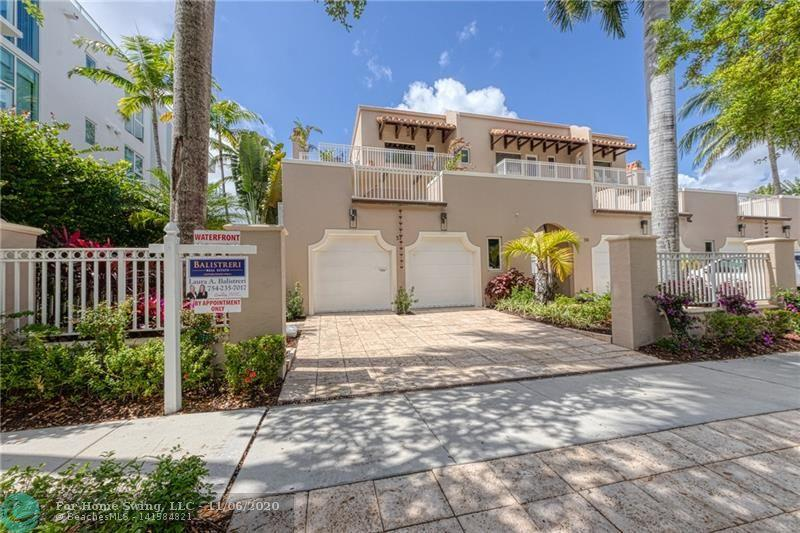 Las Olas Isles: Space, location & lifestyle! Fantastic 4 bed/4.5 bath/open office/2 car garage, dock for 50+ foot boat/catamaran & the most incredible location. With almost 4,000 sqft under air & more than 2,200 sqft of outdoor living space, this home is truly one of a kind! Large & open kitchen w/ breakfast bar, pantry, formal dining, top of the line appliances & gas range. Expansive master w/ the most incredible views of the sunrise & sunset over the open water & downtown skyline. All bedrooms have walk-in closets, private bathroom & large patios. 2 car garage, 4 car driveway, wet bar/wine room, 3 fireplaces,elevator, Hurricane impact windows & doors, brand new whole home generator, 1 year old roof, 2 new air conditioners, poured concrete