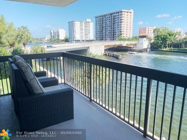 Are you looking for STUNNING Intracoastal views from every window & door in a CORNER unit? It's like living on a cruise ship! Relax on your PRIVATE East facing open balcony with direct water & boats parade daily. Most sought after building on the West side of the Intracoastal so no waiting on the bridge. This building was built with fire sprinkler system! Amazing remodeled open floor plan unit with Impact windows & sliders throughout, separate dining area, large walk-in closet & dressing area. W/D in unit. Resort style heated pool directly by the water, BB