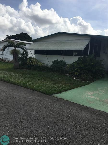 Great Location, Good Shopping, Close to Airport, Good Restaurants,  55+ Mobile Home Community.