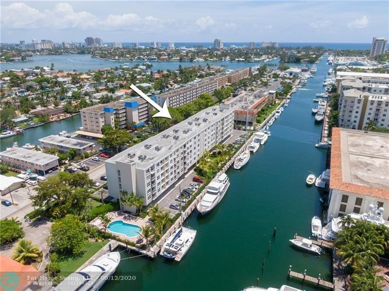 Amazing waterfront building in the heart of east Fort Lauderdale. Enjoy this wonderful 2 bedroom, 2 bath condo located in Plaza 15 only a few min to Las Olas, 1 mile to the beach, quick trip to the airport & more! This condo has impact windows & doors, newer AC unit & washer/dryer in the unit! This unit has tile floors throughout, an updated kitchen open to the living room, large bedrooms and lots of storage. Master bedroom has large walk in closet. Enjoy beautiful sunsets from your private balcony. Enjoy the waterfront, heated pool, gym, 2 saunas, BBQ are