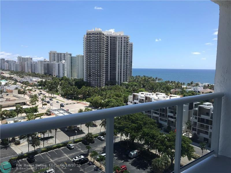Beautiful rental with panoramic views of the ocean and intracoastal in Ft. Lauderdale. Fully-Furnished 1BD/1.5BA on the 14th floor in Berkley South. Updated unit with spacious open floor plan, lots of natural sunlight and ocean breezes. Resort-style amenities include heated pool, tennis courts, fitness center, 24/7 concierge desk and more. Laundry on every floor. Great location, just 2 blocks to the beach and walking distance to great restaurants. Cable TV included, tenant pays electric. Available now for a 1 year lease.