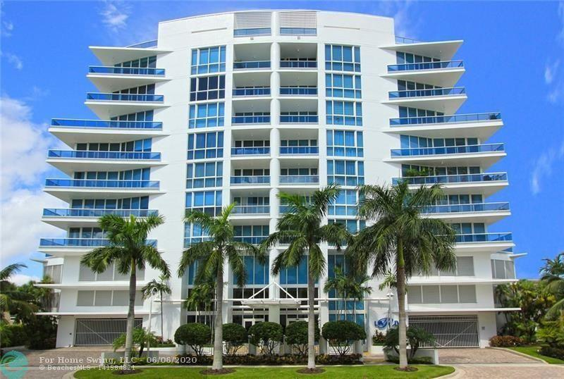 """VERY SPACIOUS BRIGHT FURNISHED 3 BEDROOM 3 FULL BATHROOMS IN THIS ULTRA SOPHISTICATED """"BOUTIQUE STYLE"""" BUILDING. CITY AND (SLIGHT) INTRACOASTAL VIEWS. NINE FOOT CEILINGS, FLOOR TO CEILING IMPACT WINDOWS AND IMPACT DOORS. GOURMET KITCHEN WITH PASS THROUGH, STAINLESS APPLIANCES AND GRANITE COUNTERS, DUAL OVENS. BALCONY IS 53' X 9' WITH PERGOLA. CABLE AND WI-FI INCLUDED. 24 HOUE DOOR PERSON TO GREET YOUR GUESTS, STATE OF THE ART GYM, SAUNA AND HEATED POOL ADJACENT TO INTRACOASTAL. 2 PARKING SPACE IN GARAGE. MOMENTS FROM FORT LAUDERDALE BEACH< RESTAURANTS, SHO"""
