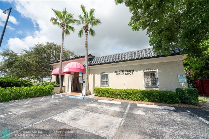 Freestanding Building on Prime Corner Location in Oakland Park! Zoned B-1 with just over 2,000 sq ft of office space and 8 parking spaces. Layout offers 5 private offices, large conference room, open admin space, reception desk, kitchen and 2 bathrooms. Ideal for an insurance agency, attorney office, mortgage company, etc. Centrally located and easy access to I-95. Don't miss this fabulous opportunity!