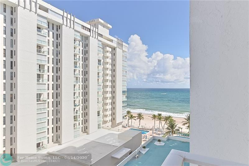 BEAUTIFUL 2 bedroom / 2 bath unit with OCEAN VIEWS, NORTH EXPOSURE in the popular POMPANO AEGEAN. WASHER and DRYER IN UNIT! This building has all the amenities: Heated POOL and SPA, FITNESS Center, BBQ Area, Billiards, Ping-PongB, Library and more! Located on a wide sand section of POMPANO BEACH, just south of Atlantic Avenue. Close to the NEW POMPANO PIER and BEACH HOUSE and OCEANIC Restaurants! Pompano Beach is becoming the place to be! Must see to appreciate. Unit available FURNISHED or UNFURNISHED, Your Choice!