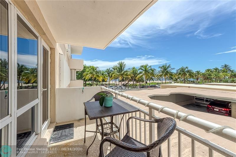 Location, location, location.  Beach views from every room. Building is in the newly developed area of Pompano Beach.  New fishing pier, restaurants, tiki bar, playground, and let's not forget one of the most beautiful beaches in S. Florida.  Updated unit facing south, open kitchen, granite countertops, stainless appliances,storage galore. Being sold with furniture.  Decoration items are negotiable.