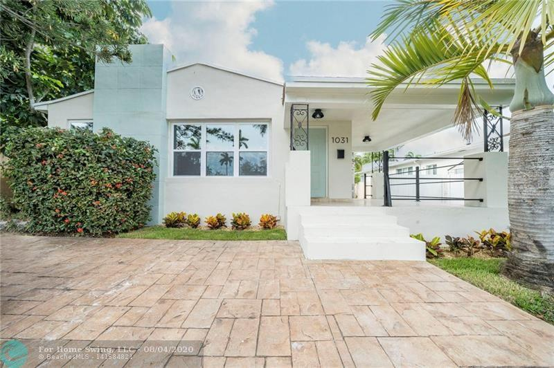 Welcome to PRIME EAST HOLLYWOOD, with this tastefully renovated home in the heart of Hollywood Lakes. Minutes away from Hollywood Beach and Boardwalk, shopping, dining, and supporting areas, with Aventura Mall, Gulfstream, and two international airports and 2 two cruise ports just around the corner.This location features a rear service road which provides separate access to the private rear door - perfect for use as an AirBnB.This completely renovated 3 bedroom, 2 full bath single family home features: new windows, new AC unit, new roof, new open style kit
