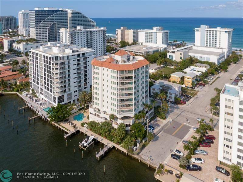 THIS BOUTIQUE BUILDING WITH 2 UNITS PER FLOOR HAS ONLY 16 RESIDENCES. DIRECTLY ON THE INTRACOASTAL, 2 ELEVATORS OPEN INTO YOUR PRIVATE FOYER, 3BR / 3+1BA, 3,300 SQ. FT LIVING AREA, 3 COVERED BALCONIES, IMPACT DOORS AND WINDOWS-WITH WATER VIEWS FROM EVERY ROOM. REMODELED OPEN KITCHEN AND BATHROOMS. EACH BEDROOM HAS EN-SUITE BATHROOM AND BEDROOMS HAVE DIRECT ACCESS TO COVERED BALCONY.  2 GARAGE PARKING SPACES AND 2 DOGS WELCOME WITH MAXIMUM WEIGHT OF 50 LBS EACH. A/C STORAGE AND BUILDING MANAGER RESIDES ON SITE, 1 BLOCK TO BEACH, AND CLOSE TO RESTAURANTS. $3