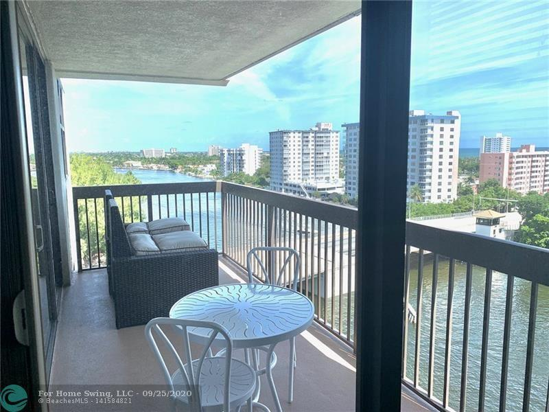 BLACK FRIDAY SALE!! Unobstructed panoramic Ocean & Intracoastal views from this NE 10th Floor corner Penthouse condo with 2 balconies/1 Private. 3/2.5 newly renovated 2 master suites with new A/C, washer/dryer, carpet in bedrooms, custom doors and closets, remodeled bathrooms with handicap walk-in tub in the 2nd master. Updated kitchen, engineered wood floors, impact windows throughout. This building has fire sprinkler system! Most sought after building on the West side of the Intracoastal so no waiting on the bridge. 24/7 security, on-site management, magnificent resort style heated pool located at the water's edge, garage parking. Located 2 short blocks to the beach, restaurants, shopping, boat ramp next door, golf, just 25 minutes to FLL