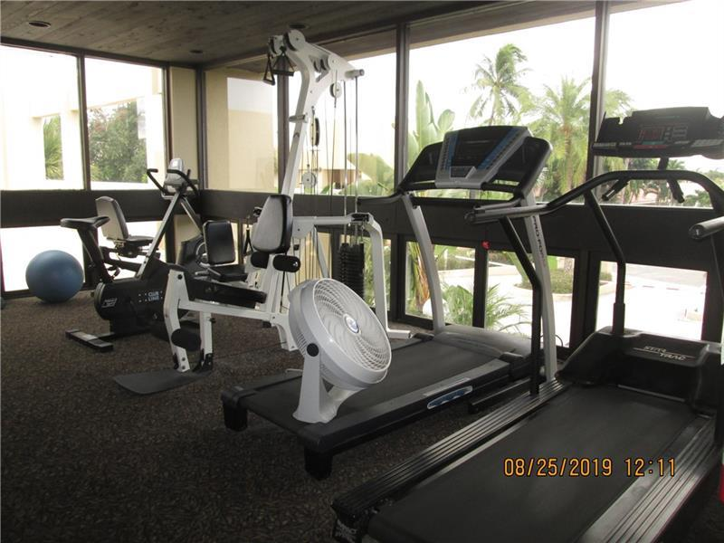 Fitness area in clubhouse