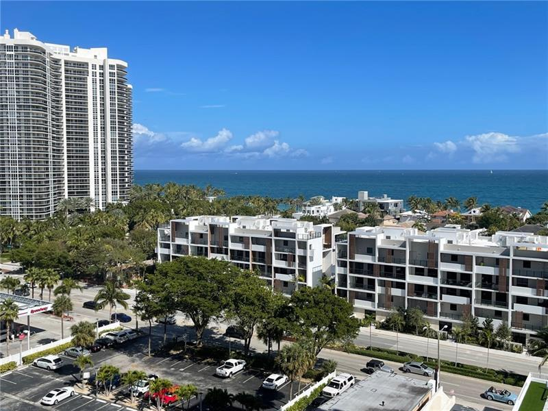 *UNFURNISHED ANNUAL STUDIO RENTAL* Light and airy beach pied-a-terre. Gorgeous Ocean & Galt Mile views!! 2 short blocks to beach. Total bldg reno almost complete. NEW: lobby, hallways, clubroom, gym, glass balconies, tennis court w/pickle ball lines, infinity heated pool, BBQ pavilion, walking track, green turf, bocce ct. Dedicated CAT 5 fiber optic hi speed Internet, basic cable, water, sewer, pest control, 24hr concierge, bike/kayak storage, GARAGE PARKING. Bayview School District.NO PETS. Laundry and storage next door to unit. Pool still under construction. GREAT PLACE TO LIVE!! BEST LOCATION! EZ to show.