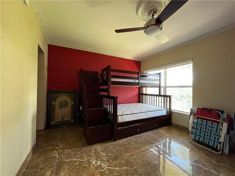 Second bedroom has view of the INTRACOASTAL and marble floors