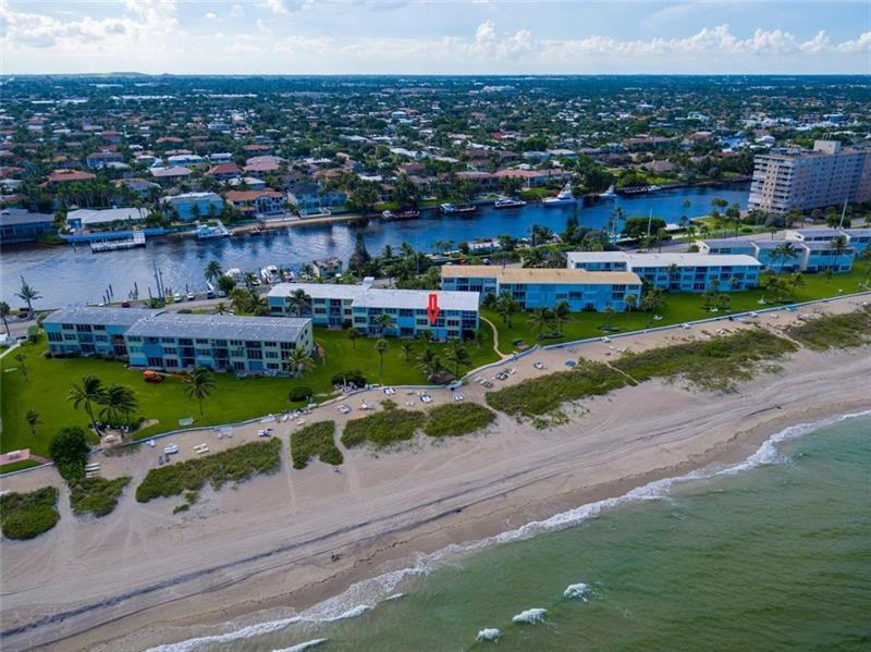 1041 Hillsboro Mile is on the sand, AND also owns the Intracoastal side with Boat Docks!