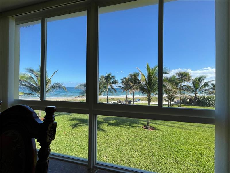 DIRECT OCEAN VIEW (Photo taken from Living/Dining Room) 2nd Floor Co-op