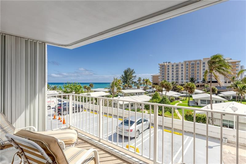 WOW! Live on the BEACH! SUNNY SOUTH facing 2 BR / 2 Bath condo in the Pompano Aegean with OCEAN VIEWS! Let the SUN shine in! This SPACIOUS 1520 sf condo has the WASHER and DRYER inside the unit! One assigned parking space but plenty of guest parking for your second car! This building is located on a WIDE section of SANDY BEACH just south of the POMPANO PIER and ATLANTIC Avenue! Close to many RESTAURANTS and shops! Building includes all the amenities: POOL, SPA, BEACH ACCESS, Ping-Pong, FITNESS CENTER, Recreation Room, Library and more! Must See to Appreciate - Will not last!