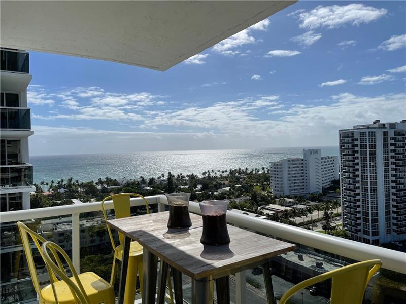 Beautifully remodeled sunny 17th floor SW Corner 2/2. Breathtaking Ocean views and long views south down the Intracoastal Waterway. Sparkling city lights at night. Recently installed HURRICAN IMPACT WINDOWS/DOOR. 24 inch Porcelain flooring in every room. Updated kitchen and baths. 3 huge walk-in closets. Largest floor plan in the bldg. Laundry/storage on every floor.  Updated lobby, hallways, clubroom, gym, tennis, pickle ball. infinity heated pool, BBQ pavilion, walking track, bocce ct. Monthly fees include reserves, dedicated hi speed CAT 5 fiber optic Internet, HDTV, 24hr concierge, bike/kayak storage. GARAGE PARKING. 2 pets up to 20# each. Bayview School District. BEST LOCATION. DIRECT BEACH ACCESS!!