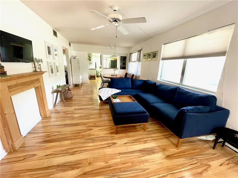 Tons of natural lighting in living room