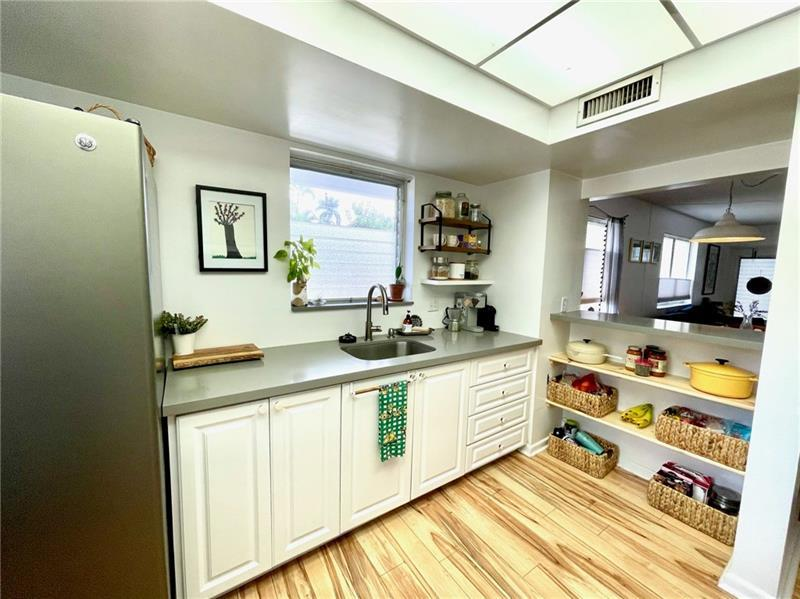 Open and spacious kitchen with tons of storage space