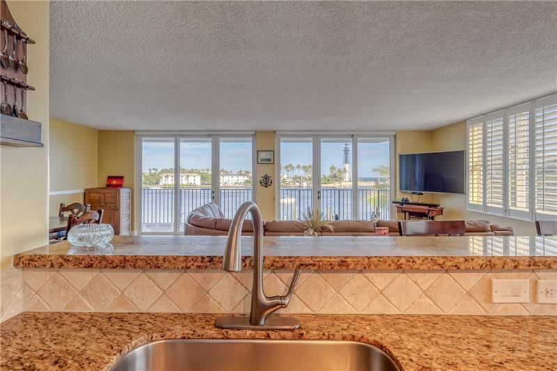 Enjoy beautiful views while cooking or washing dishes!