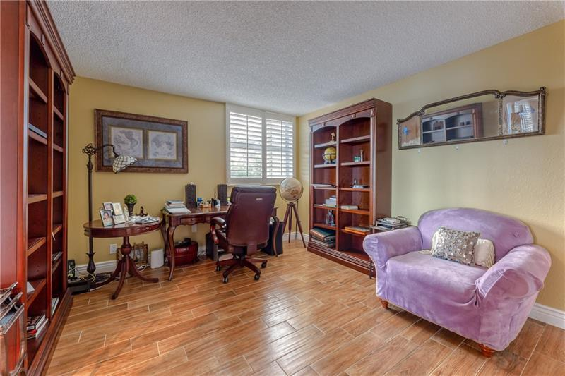 Large 3rd bedroom is currently being used as an office
