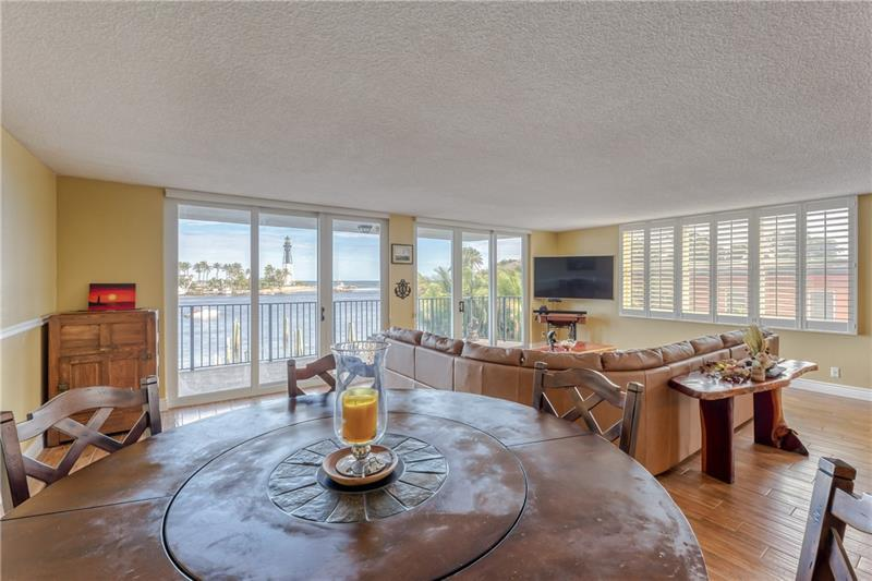 Large Dining / Living Room Combo with Lighthouse Views