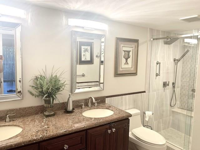 Walk-in Shower and dual sinks in 2nd master bath.