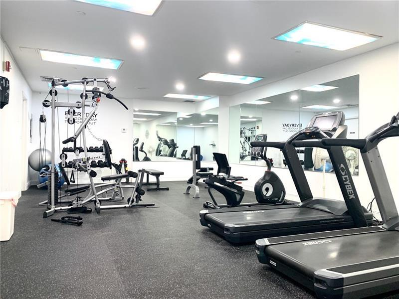 Recently remodeled Fitness Center