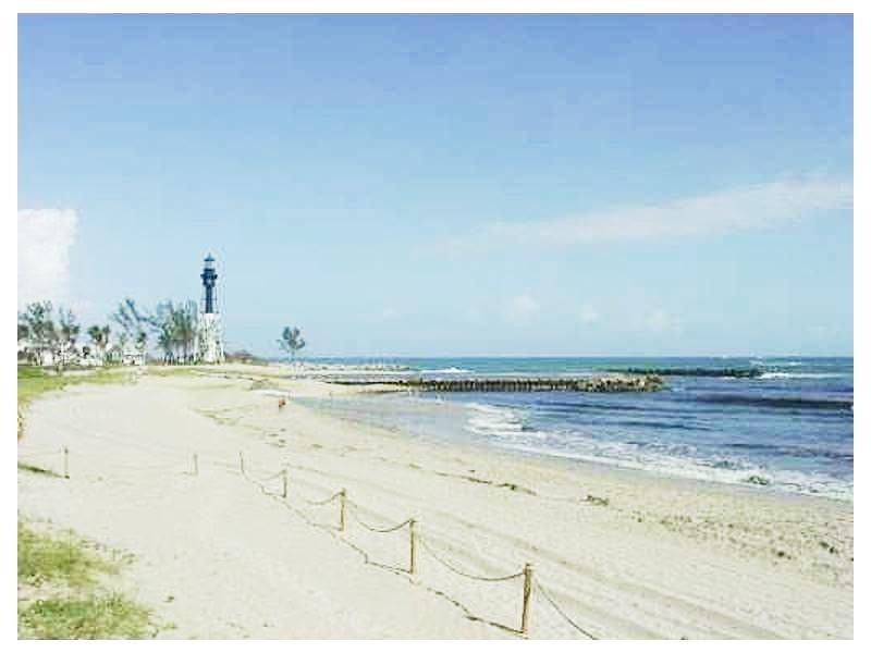 You are only blocks away from Pompano Beaches with a sighting of the famous lighthouse