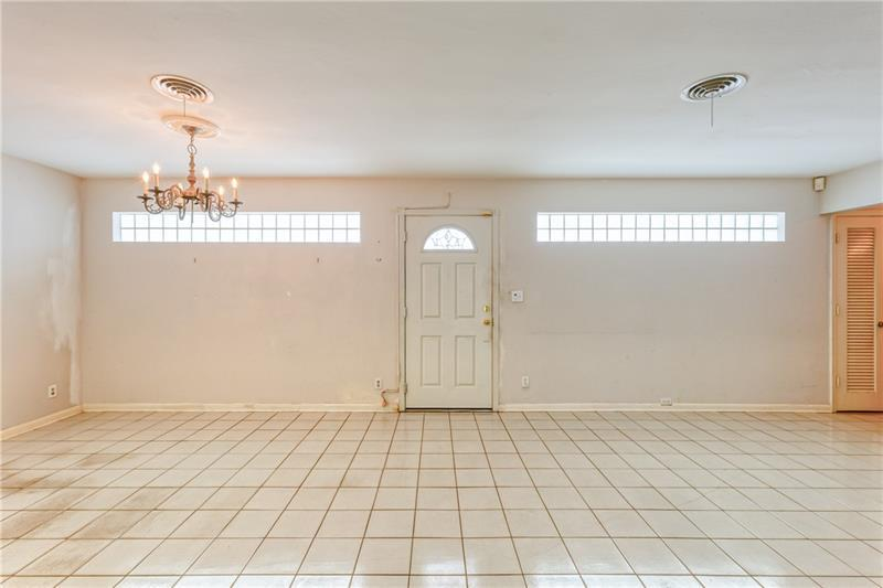 Living room and Dining room upon entry