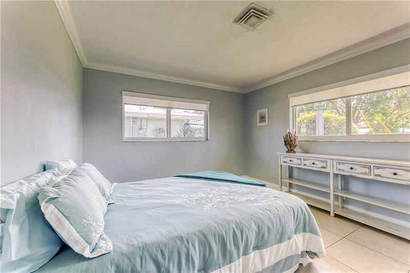 Large and spacious second bedroom with custom blinds