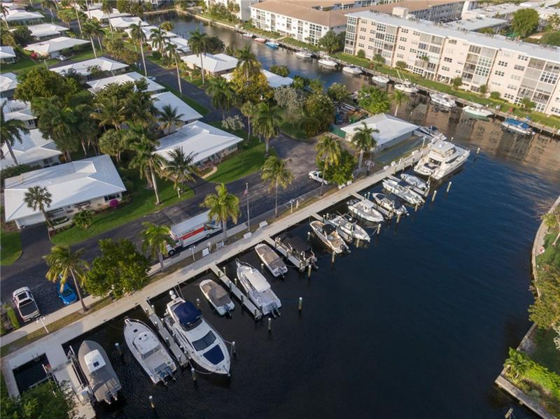 Private docks in community