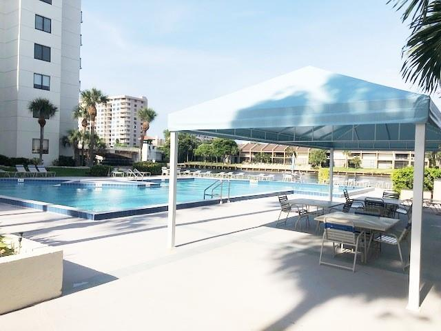 Hang out under the 20 x 30 canopy or at your Resort style heated pool or on waters edge