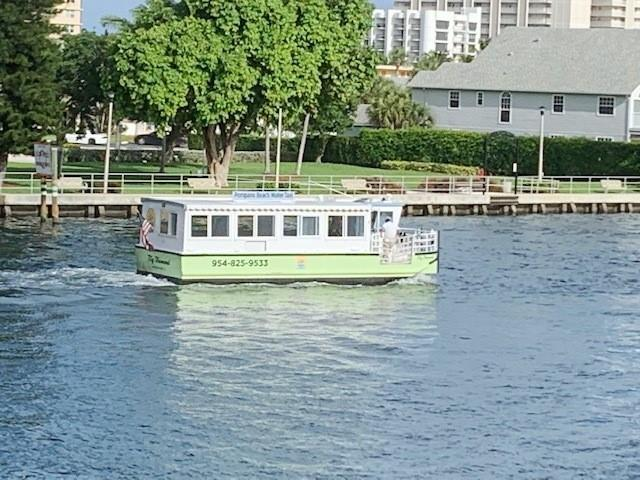 The Pompano Water Taxi has a pickup location across the waterway