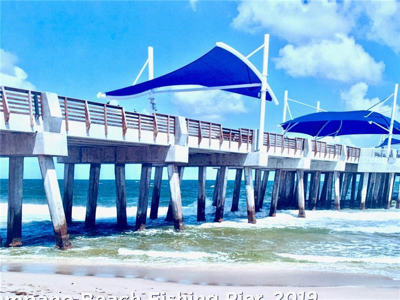 New Pompano Beach Pier come enjoy fishing, walking or dining!