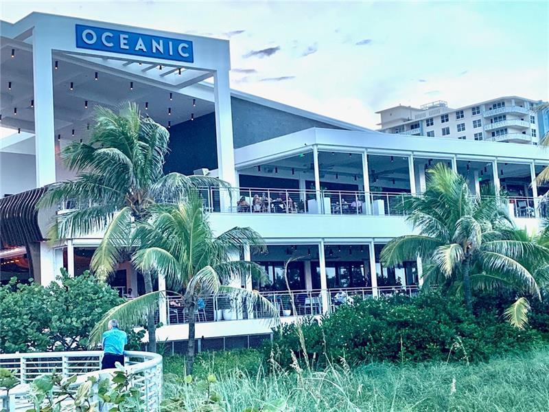 Oceanic is a upscale restaurant on the beach