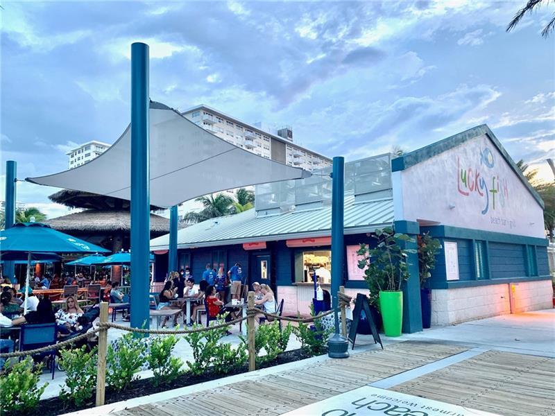 The Lucky Fish is a new restaurant on the beach