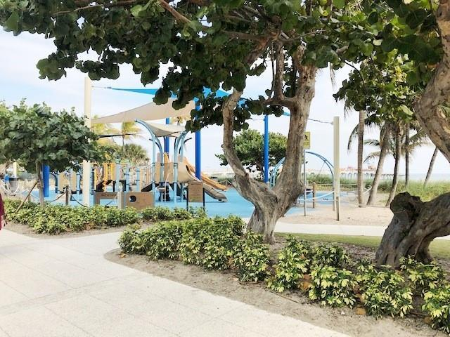 Bring the kids to the new Pompano Beach playground on the beach.