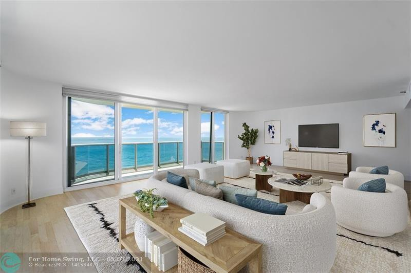 """Enter this exquisite 2523 sf 3/3 OCEANFRONT condo in one of Boca's most exclusive beachfront buildings, and you'll think you're on a yacht! Balconies in every room and floor-to-ceiling impact sliders frame panoramic ocean views, reminding you why oceanfront units are so RARELY AVAILABLE here. Decked out in new paint, refinished hardwood floors, new carpet, and restored marble, this turnkey unit boasts coveted luxuries like dedicated laundry and """"his and her"""" walk-in closets. 4 units per floor and 2 elevators in this boutique building mean elbow room at the oceanfront pool and fitness center.  A friendly doorman welcomes you home from savoring your prime location near downtown Boca's shopping and dining, Mizner Park, and the famous Boca Rato"""