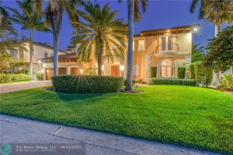 Built in 2009 this Magnificent Waterfront Estate features 5 bedrooms, 5.5 bathrooms, 3 car garage, an office & loft. Enjoy 100ft on a wide canal at a large turning basin & Southern exposure. Large & open living areas, gourmet kitchen, walk in pantry, 2 laundry rooms, 2 downstairs bedrooms & 2 cabana bathrooms. Luxurious Primary bedroom w/ 2 walk in closets, sitting area & access to the covered patio. Enjoy the finer details of Solid core doors, top of the line appliances, custom light fixtures, walk in closets, hurricane impact windows & doors, Tesla charging station, elevator, marble flooring, Chicago brick driveway & custom window treatments. Relax & entertain by the pool, host dinner on the covered patio & enjoy the extra space for kids