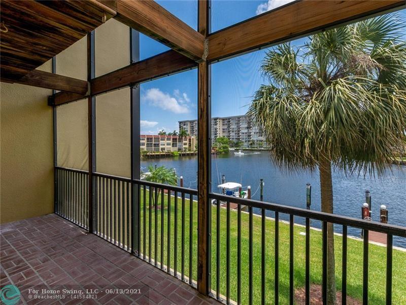 BEAUTIFUL 2.2.5 WITH PRIVATE BOAT SLIP INCLUDED. CAN ACCOMMODATE UP TO 34' BOAT , MINUTES TO ICW. INCREDIBLE VIEW OF THE BAY. WALL TO WALL SLIDERS IN LR AND MASTER BEDROOM. DOUBLE SCREENED BALCONIES. NEW LAMINATE FLOORING, CUSTOM GRANITE KITCHEN, WALK-IN CLOSETS, WASHER & DRYER AND STORAGE.  COMPLEX HAS TWO LIGHTED TENNIS COURTS, LARGE HEATED POOL, HOT TUB, SAUNA, FITNESS ROOM, TV AND WI-FI. TWO CAR PARKING WITH ONE SPACE COVERED AND ASSIGNED. 10 MINUTE DRIVE TO THE BEACH.  COMPLEX  HAS CAMERA SECURITY.  CLUBHOUSE HAS GENERATOR, WI-FI AND TV, FITNESS CENTER, SAUNA, KITCHEN. NO DARK TIME WITH POWER FAILURE . CLOSE TO SCHOOLS, HOSPITALS, SHOPPING AND I95 .  THIS IS PARADISE !