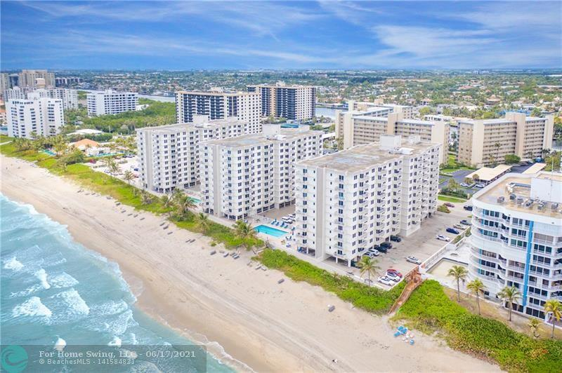 Oceanfront Condo in the exclusive Town of Highland Beach! This unit in Ambassador East Condominium is a rare find.   This beautifully updated 1 bed 1.5 bath has it all and is ready for you to move in! The unit is light and bright with the best of all views, including Ocean views, incredible sunsets, and the lights of the city.  This lovely unit offers Marble floors throughout, updated light fixtures & Impact Windows/Doors.  The new kitchen is a cook's dream with Espresso cabinets, granite tops, brushed stainless, tile backsplash & large pantry. The bedroom is spacious & has large walk-in closet with custom built-ins.   The building is well maintained, has 24 hr security, gym, heated pool, BBQ area is all ages & more! The perfect mix of ocea